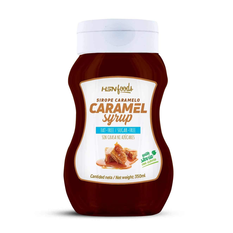 Sirope de Caramelo de HSN Foods - Sin Grasa, Sin Azúcar, Edulcorado con Estevia, Apto Vegetarianos - 350ml: Amazon.es: Alimentación y bebidas