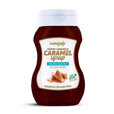 Sirope de Caramelo de HSN Foods - Sin Grasa, Sin Azúcar, Edulcorado con Estevia