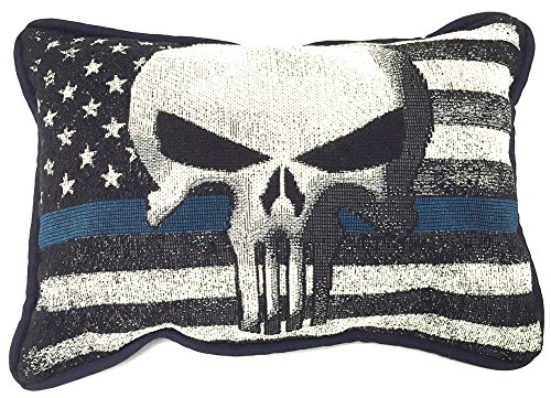 Police Throw - Brotherhood The Punisher American Flag Throw Pillow