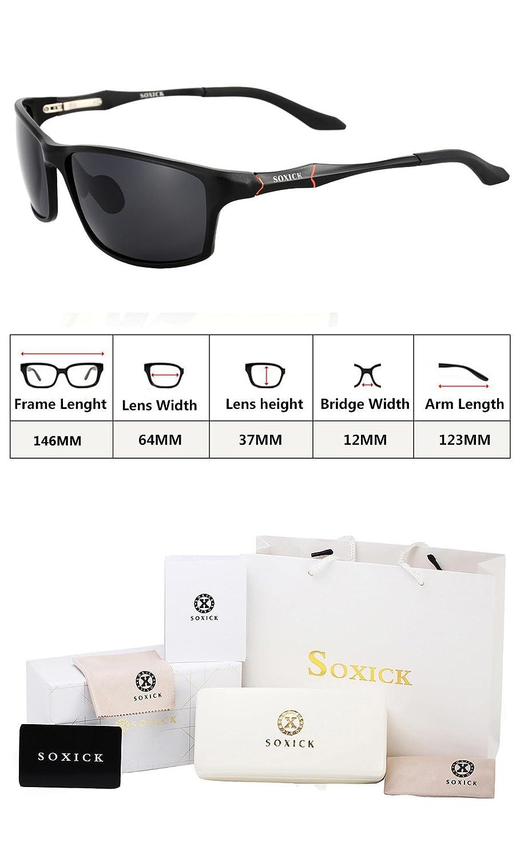 773ce0f6b4 Amazon.com  Mens Sunglasses Polarized Glasses Black Dark Lenses Sturdy Frame  - 6688  Clothing