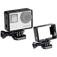 CoWalkers Carcasa estándar de Montaje en Bastidor de Borde con Base de Montaje y Tornillo de Perno para cámara GoPro Hero 4 3+ 3(1 PCS)