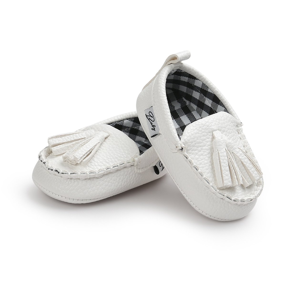 Infant Baby Boys Girls Loafers Tassels Soft Sole Sneakers First Walkers Crib Shoes Flat Boat Dress Shoes Moccasins
