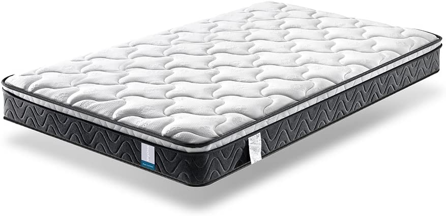 Single Mattress , Inofia Sleeping Super Comfort Hybrid Innerspring twin Mattress Set with 3D knitted Dual-Layered Breathable Cover-8 -Certified by CertiPUR-US-100 Hassle-free Night Trial