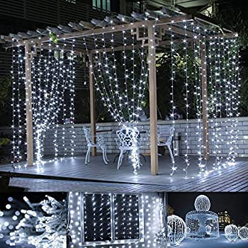 le led window curtain icicle lights 306 led string fairy lights 98ft x