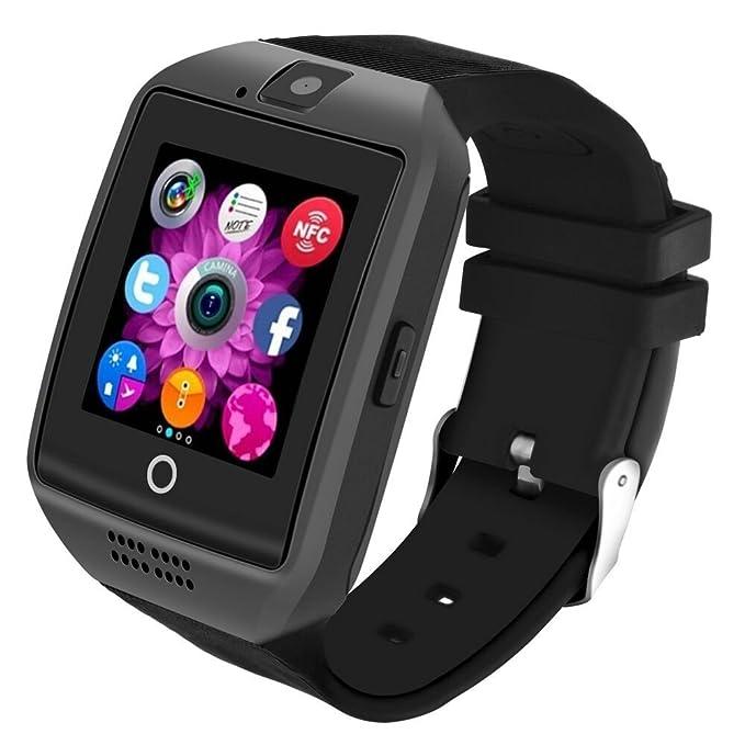 Bluetooth Smartwatch [Nueva Versión 1.54 Pantalla Curva], LERMX Smart Watch Reloj Inteligente Teléfono Inteligente Pulsera de Correa Suave Soporte ...