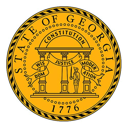 RDW Georgia State Seal - Color Sticker - Decal - Die Cut - Size: 1.25