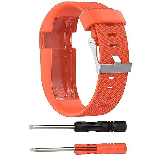2 opinioni per Per Fitbit Charge HR Band, Chengstore silicone braccialetto di sport da polso di