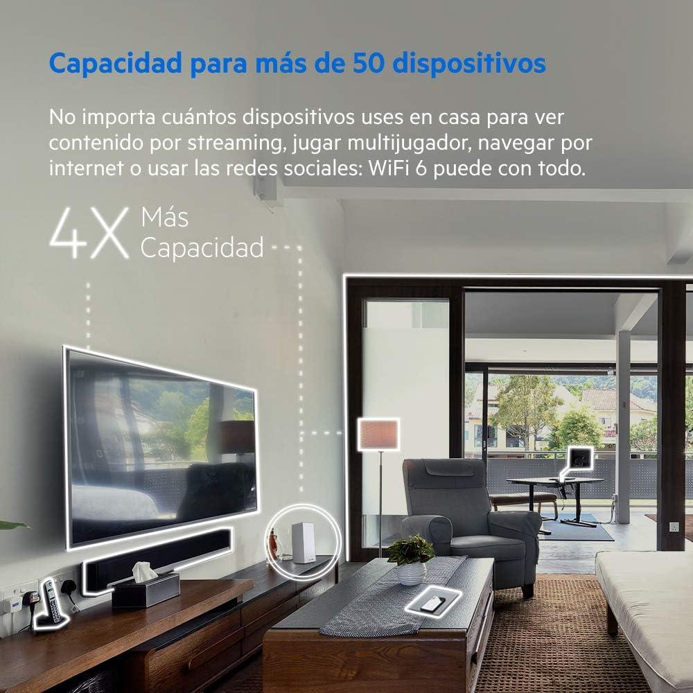 Linksys MX5300 - Sistema Velop WiFi 6 Mesh tribanda para Todo el hogar (Router/Extensor WiFi AX5300 para una Cobertura de hasta 260 m2, 4 Veces más rápido, 50+ Dispositivos, Paquete de 1) Blanco: Amazon.es: Informática