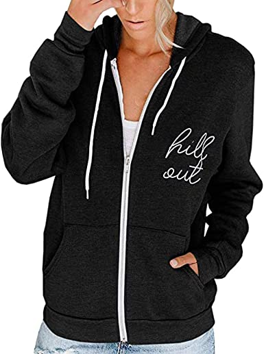 Kiminana Womens Casual Long Sleeve Zip Pocket Hooded Sweater Coat Sweater Coat Outwear Cardigan Jacket