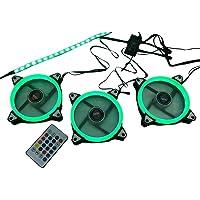 3 Cooler fan 120mm C/Fita Led Controlador Controle e Sensor