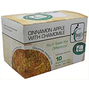 Special Tea Company Cinnamon Apple with Chamomile, Herbal Tea Single Serve Cup (Pack of 10)
