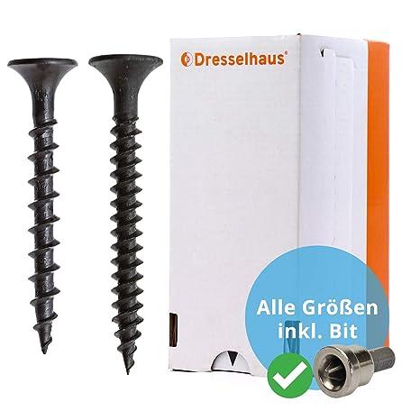 Schnellbauschrauben mit Feingewinde und Trompetenkopf 500 St/ück phosphatiert 3,9 x 55 mm