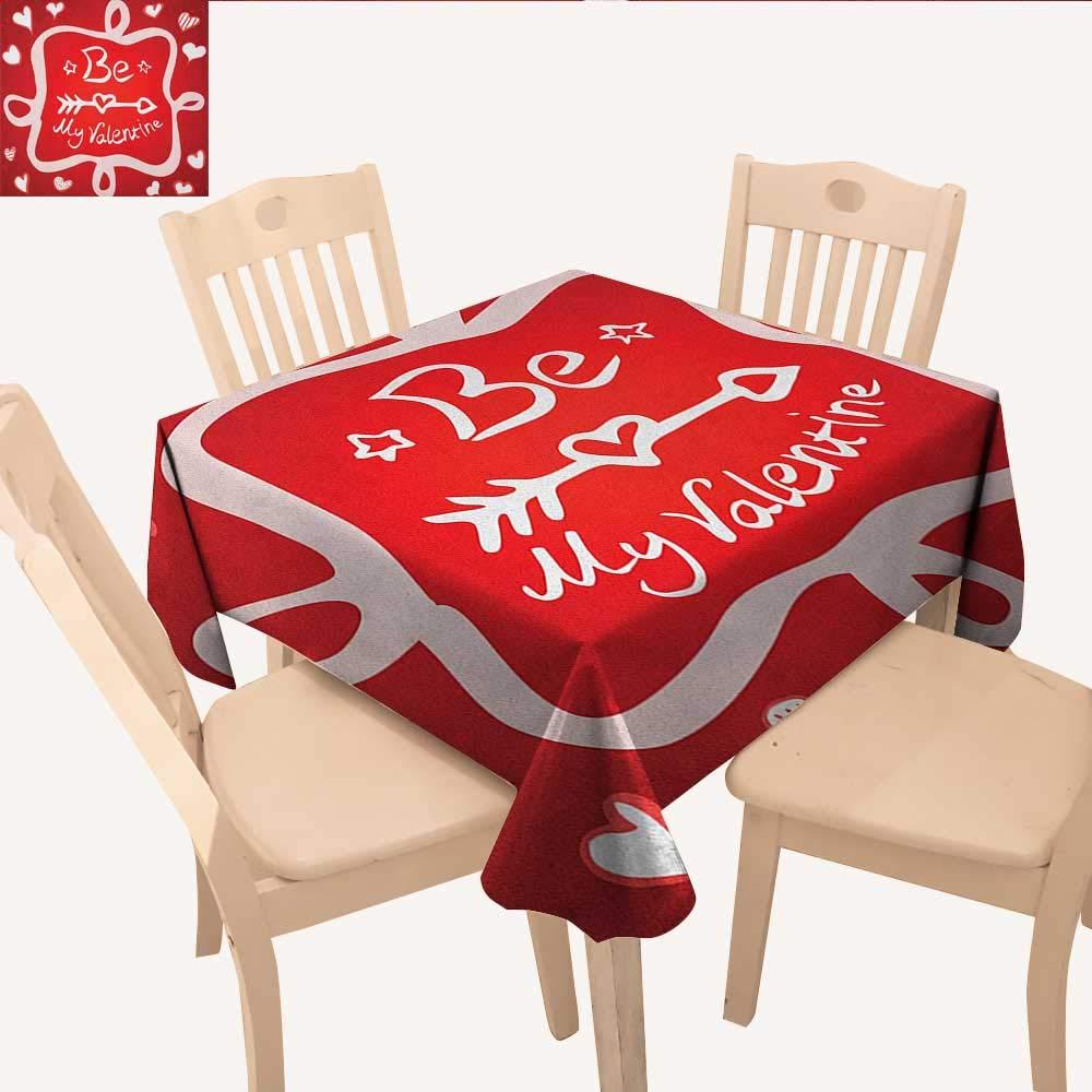 ロマンチックなピクニッククロス Time to Fall in Love インスピレーショナルなバレンタインの引用句 色と花柄デザイン テーブルクロスカバー マルチカラー W 60