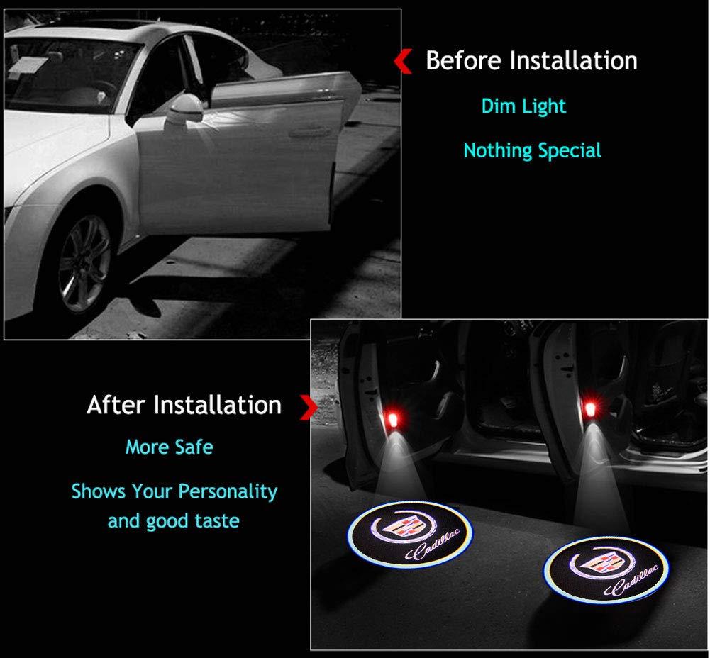 2Pcs for BMW M Car Door Logo Projector Lights Led Welcome Laser Door Projector Lights Logo Courtesy Lights M Logo Car Door Lights