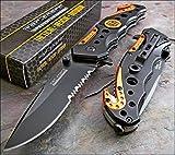 TAC-FORCE Spring Assisted Opening EMT EMS ORANGE Rescue Folding Pocket Knife Model: