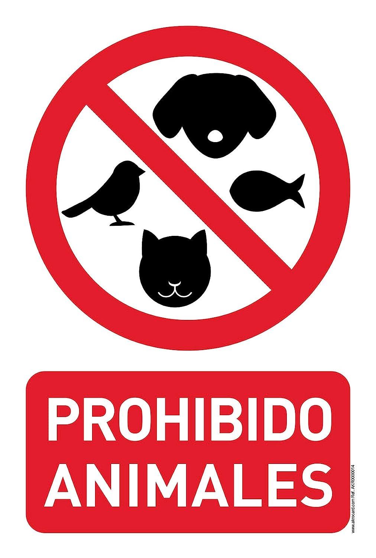 Cartel Resistente PVC - PROHIBIDO ANIMALES - Señaletica de ...