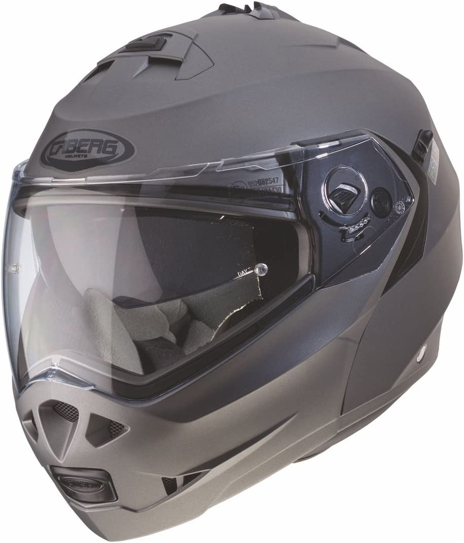 53//54cm 30860030 Caberg Klapphelm Duke Schwarz Metallic Motorrad Gr/ö/ße XS
