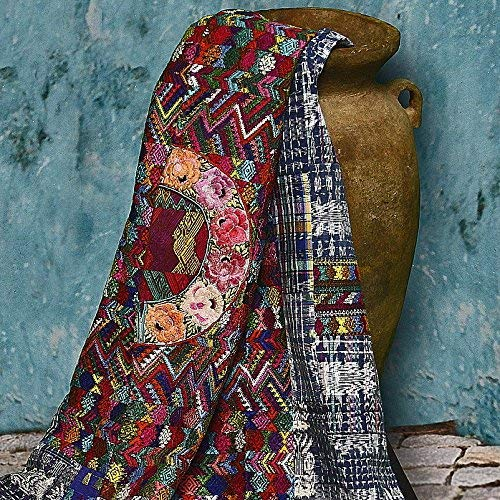 Guatemalan Embroidered Throw Blanket.