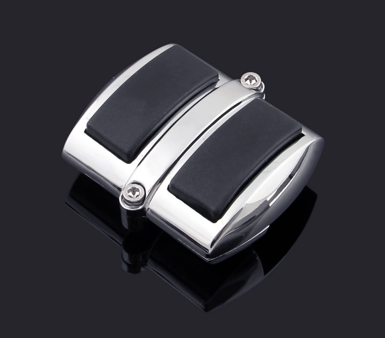 Krator Chrome Brake Pedal//Heel Shift Pad Cover Rubber For Honda Rebel 250 1996-2009 Brake Pedal