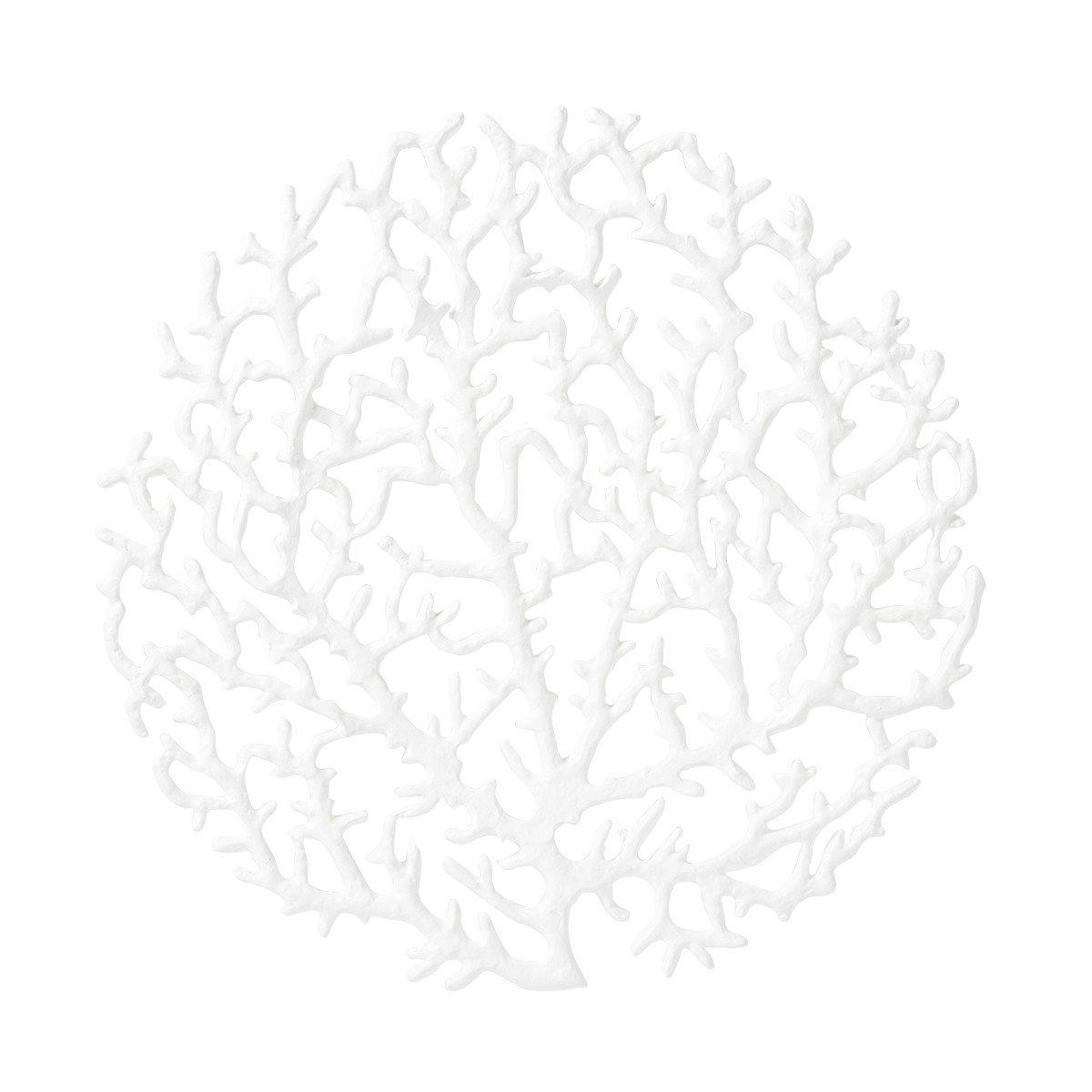 Coastal Christmas Tablescape Décor - Juliska white coral placemat