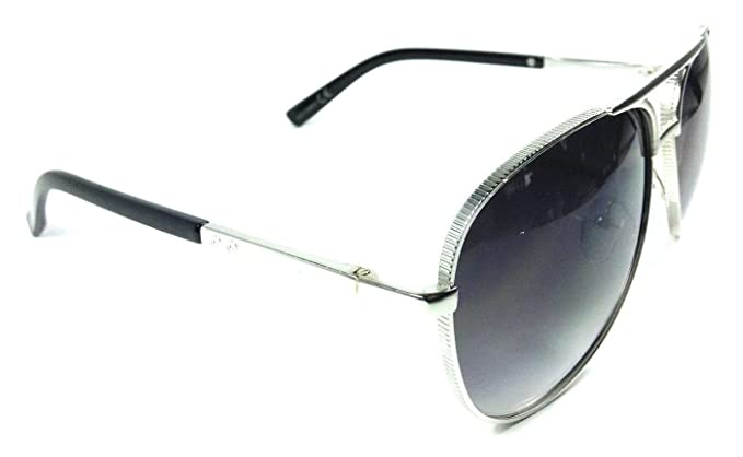 c6b25186ef Amazon.com  Coin Edge Metallic Aviator Sunglasses (Silver