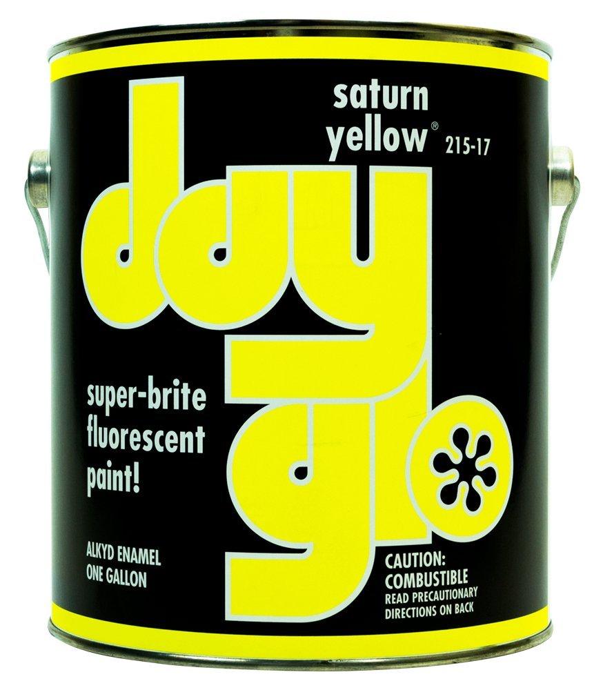 DayGlo Fluorescent Solvent-Based 215 Series Brushing Enamel Paint (Quart, Saturn Yellow, 215-17)