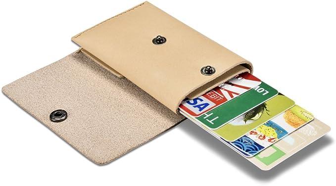 New Women/'s Plain Wood Grain Coin Purse Mini Creative Portable Key Chain Bag KL