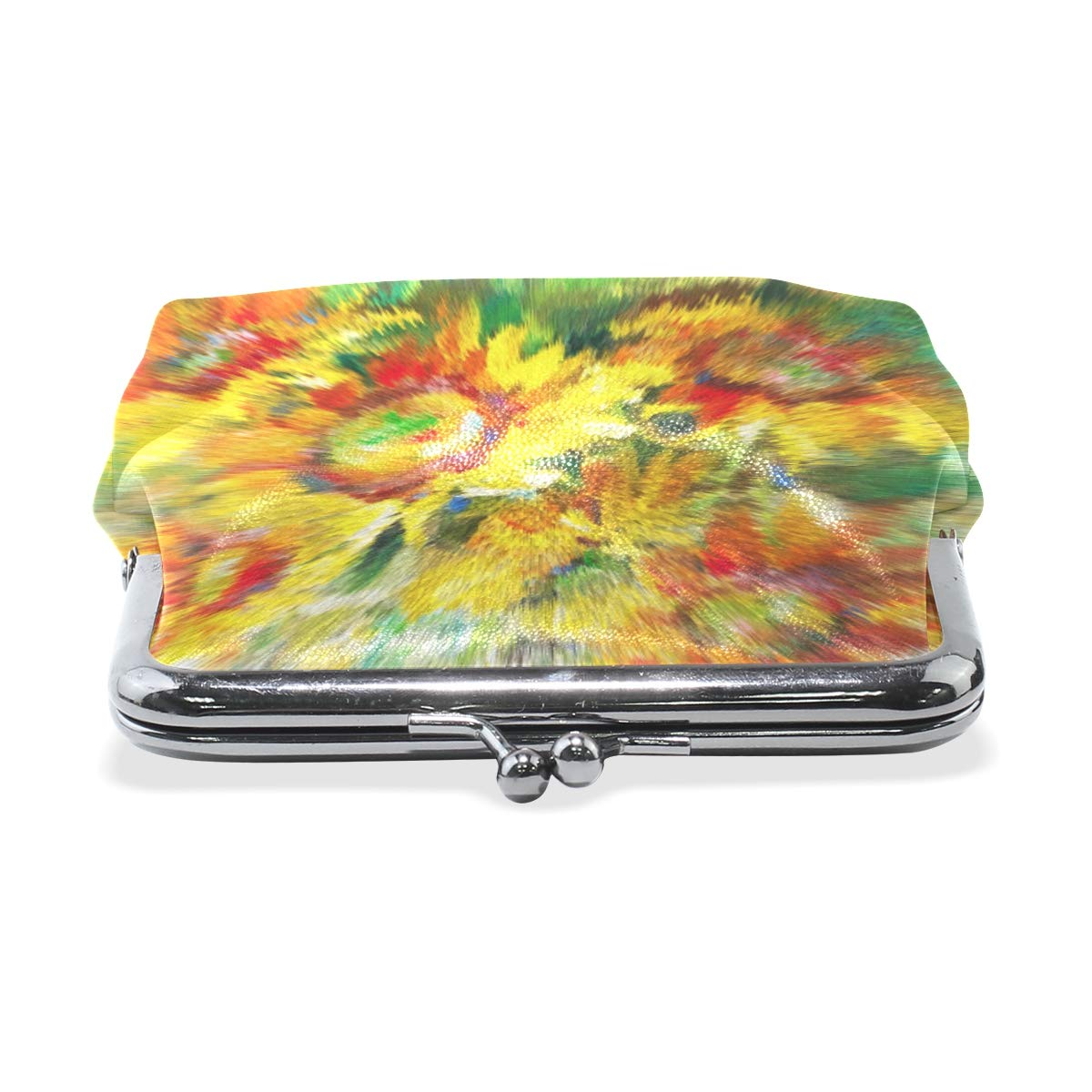 WIHVE Fashion Womens Coin Purse Sunflowers Painting Fragment Vintage Pouch Mini Purse Wallets