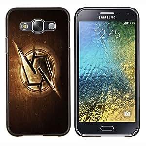 TECHCASE---Cubierta de la caja de protección para la piel dura ** Samsung Galaxy E5 E500 ** --Metal S