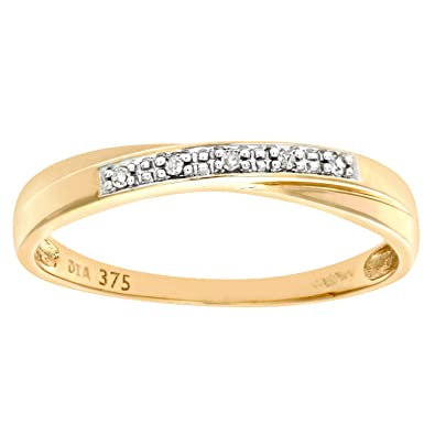 2be443981 Naava Alliance - Femme - Or jaune (9 cts) 0.95 Gr - Diamant 0.004 ...