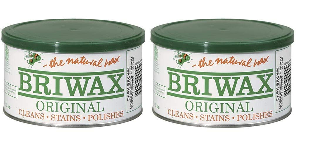 Briwax Darkbrown (Dark Brown) Furniture Wax, Cleans, Stains, and Polishes (Тwo Рack) by Briwax (Image #1)