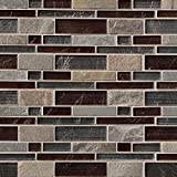M S International Urbano Blend Interlocking 12 in. x 12 in. x 8 mm Glass Stone Mesh-Mounted Mosaic Tile (10 sq. ft. / case)