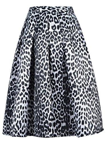 Choies Womens Floral Pattern Leopard