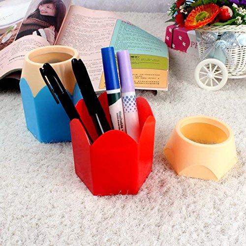 rosso materiale scolastico matita sveglio penna a forma di porta accessori per desktop tazza decorazione per i regali di natale