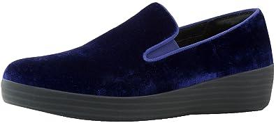 2fd11af7cedf9 FitFlop Womens Superskate in Velvet Loafer Shoes