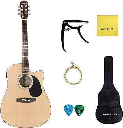 huawind guitarra acústica guitarra acústica con cuerdas de acero ...