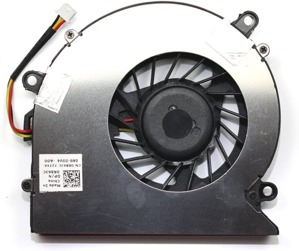 Power4Laptops Replacement Laptop Fan for Dell 0R863C, Dell F7S2-CCW DFS531205M30T 060910B, Dell Vostro 1710, Dell Vostro 1710n, Dell Vostro 1720