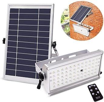 TMKOO 65 LED luz Solar Exterior 12W 1500LM luz Solar Sensor de Seguridad Luces IP65 Resistente al Agua 2 Modos Super Brillante Luces de Seguridad para Jardín,Patio,Camino (Blanco frío): Amazon.es: Hogar