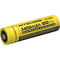NITECORE Pilas Recargables - NL189 3400mAh Protegido 18650 Diseñado por Nitecore MT2C, MT25, MT26, EC25, P16, P25, SRT5, SRT6, SRT7, etc.