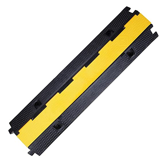 Electric Wire Cover   Yescom Medium Rubber Electrical Wire Cover Ramp Guard Warehouse