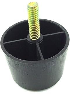 ProFurnitureParts 1.5 Inch Round Sofa Legs, Black Color, Set Of 4, HDPE  Plastic