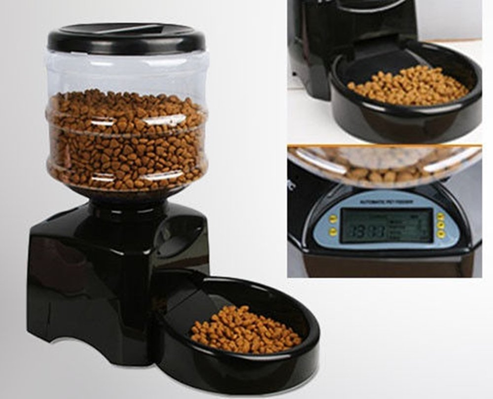 Hyfive Automatic Cat Feeder Dog Feeder Digital Display Timer Feeding Animals