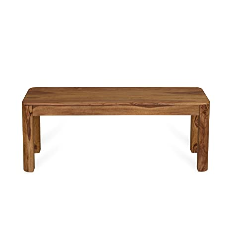 @home by Nilkamal Granada Two Seater Dining Bench (Walnut)
