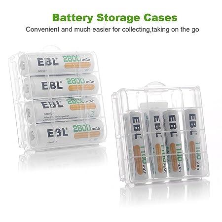 Amazon.com: EBL AA 2800mAh (4 Pack) and AAA 1100mAh (4 Pack ...