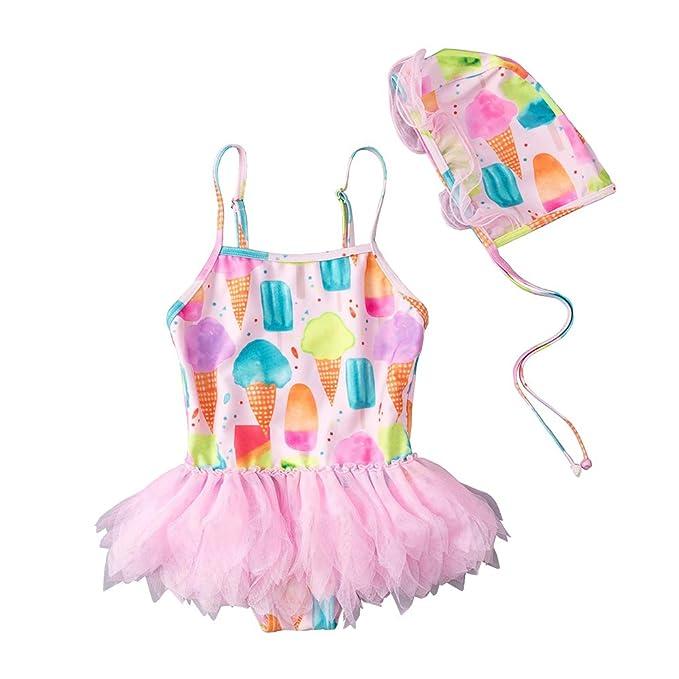 Amazon.com: Bañador de tutú de una pieza para bebés y niñas ...