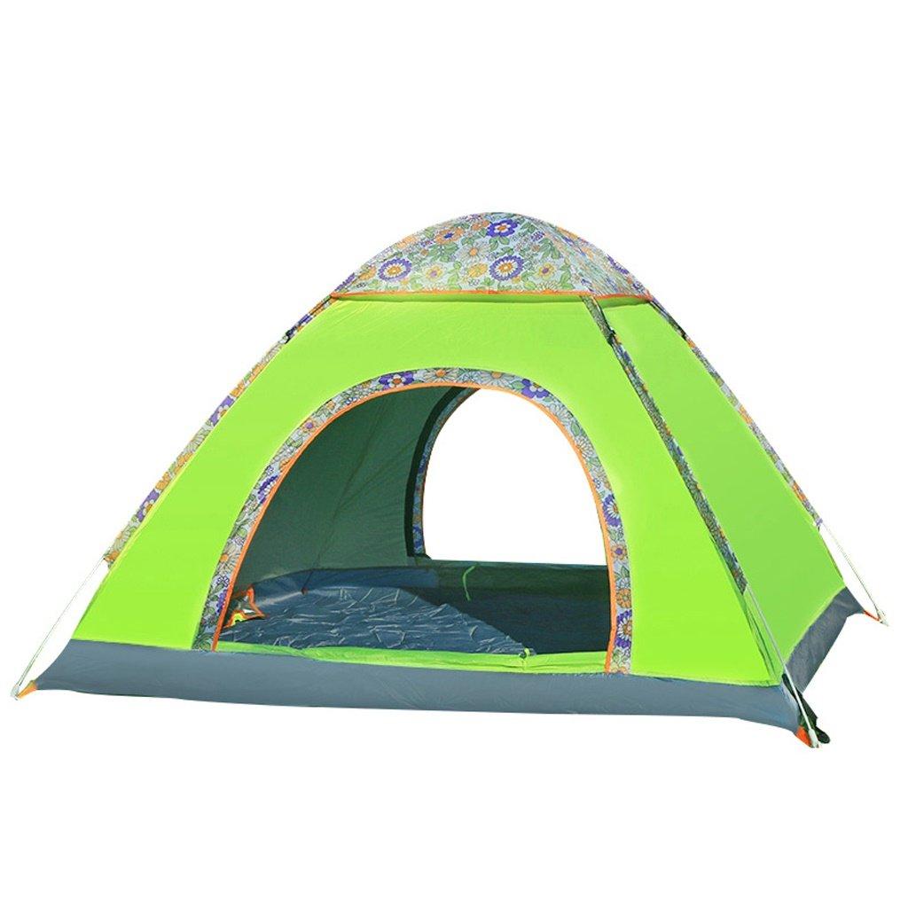 PIGE Zelt Outdoor 3-4 Personen Camping Vollautomatisches Fahrfeld Camping 200  200  130cm