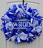 University of Kentucky Wildcats Wreath in 24 inch Diameter with officially licensed UK ''Go Cats'' Car Tag Insert