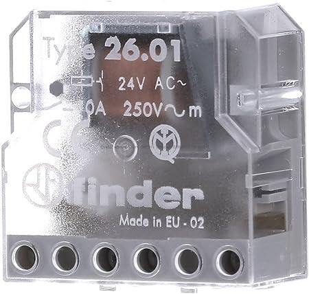 Finder 260180240000PAS T/él/érupteur Bo/îte 24 Vac 1 NO 10 A