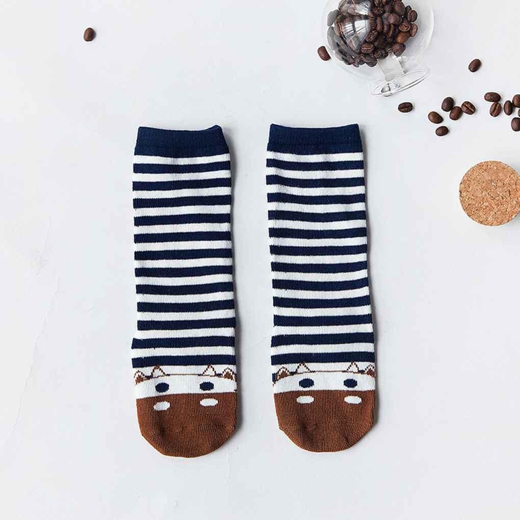 Anti-slip Glue Knee High Baby Infant Socks Breathable Combed Cotton Cartoon Newborn Toddler Socks S//M irene inevent