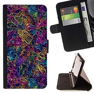 Momo Phone Case / Flip Funda de Cuero Case Cover - Colorido Robots futuros Arte Máquinas Ai Wallpaper - Sony Xperia Z1 L39